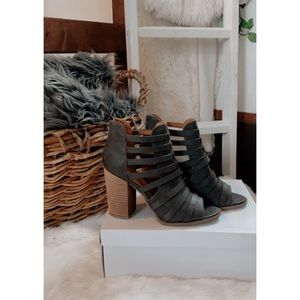 NEW 💫 Report Grey Brixa Strappy Heeled Booties